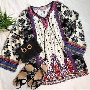 Flying Tomato Boho Kimono Sleeve Dress